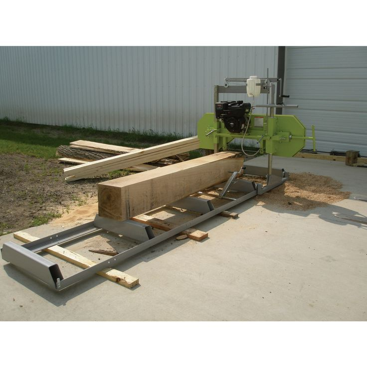 """The Timber Tuff Saw Mill is a great tool for any lumber project, capable of sawing logs up to 20in. dia. and 110in.L. Makes boards up to 4 1/2in. thick, 20""""W and 110in. long. The mill breaks down for storage or transportation, so it is easy to bring to th"""