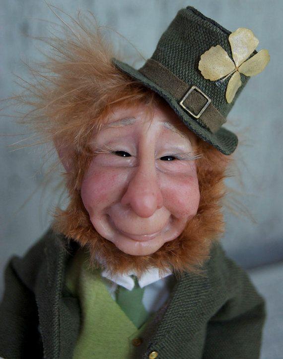 Lucky Irish Leprechaun ooak fantasy art doll by TheWindowOfTheSoul, $299.00
