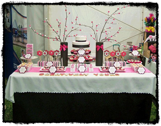 cherry blossom themed table