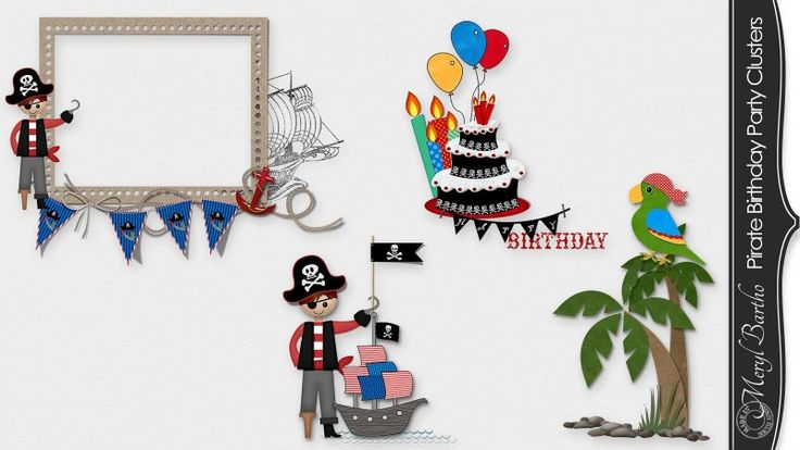 Pirate Birthday Party Clusters