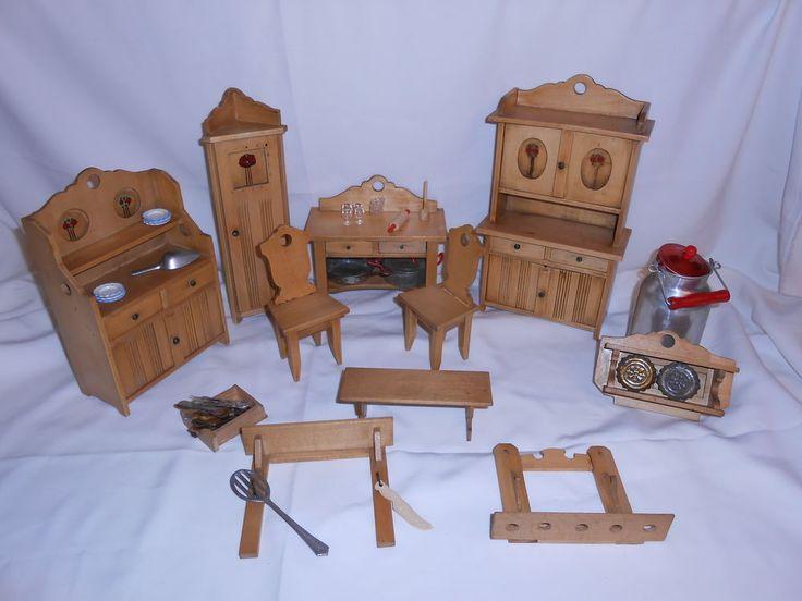 Best sehr altes Konvolt Holz Puppenm bel Landhaus Bauernm bel eBay