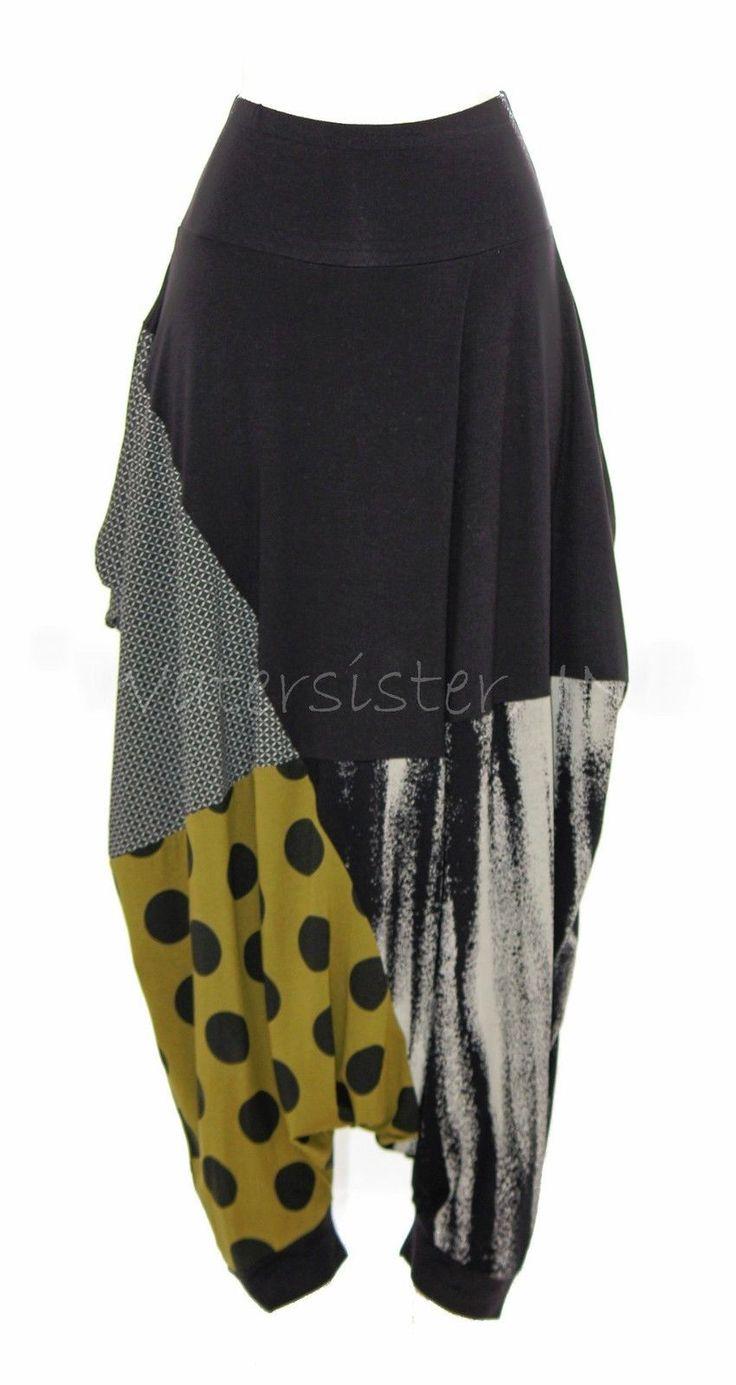 Alembika P236 Lagenlook Dali Pant Artsy Drop Crotch Harem 1 2 3 4 5 6 7 8 Willow | eBay