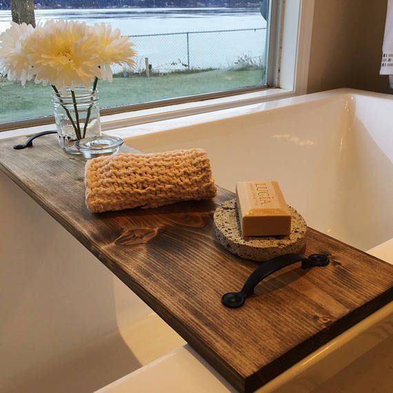 Farmhouse Bathtub Tray With Images Bathtub Decor Bathtub Tray