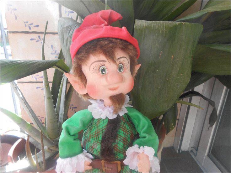 Modelado de cabeza para fofucha y duende de navidad FACEBOOK: MARIA LOPEZ