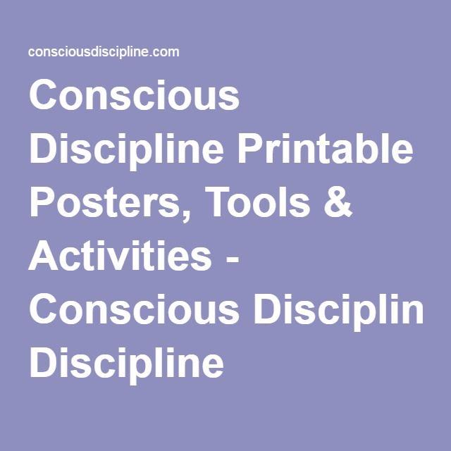 Conscious Discipline Printable Posters, Tools & Activities - Conscious Discipline