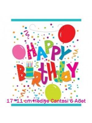 Happy Birthday Çanta (17*11 cm 6 adet)
