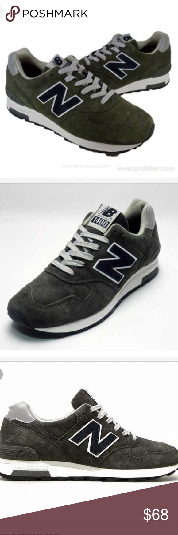 Collaboration New Balance for J Crew Sneakers New Balance M1400 DM JCrew . Each pair is crafted I the U.S from premium American made suede. Suede upper, removable footbed inserts. Rubber sole with New Balace trade mark tread pattern. Military gray New Balance Shoes Sneakers