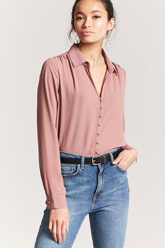 Boxy High-Low Shirt