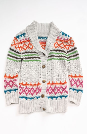 Peek 'Aztec' Wrap Sweater (Toddler, Little Girls & Big Girls) available at #Nordstrom