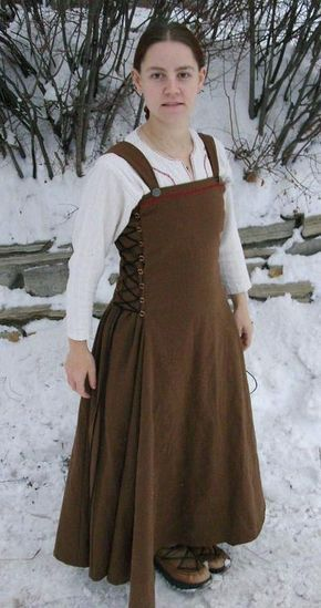 A very easy to sew apron style dress... shirt not included.