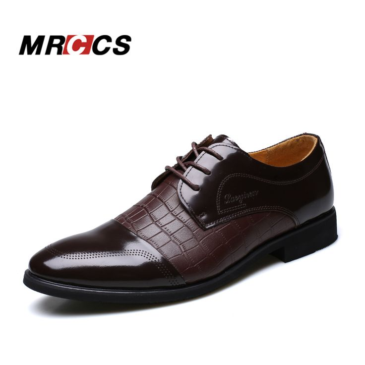 Crocodile Pattern Leather Men'Dress Shoes,For Business Wedding Formal Flats,Luxury Style Men Shoes Spring/Winter MRCCS Brand #clothing,#shoes,#jewelry,#women,#men,#hats,#watches,#belts,#fashion,#style