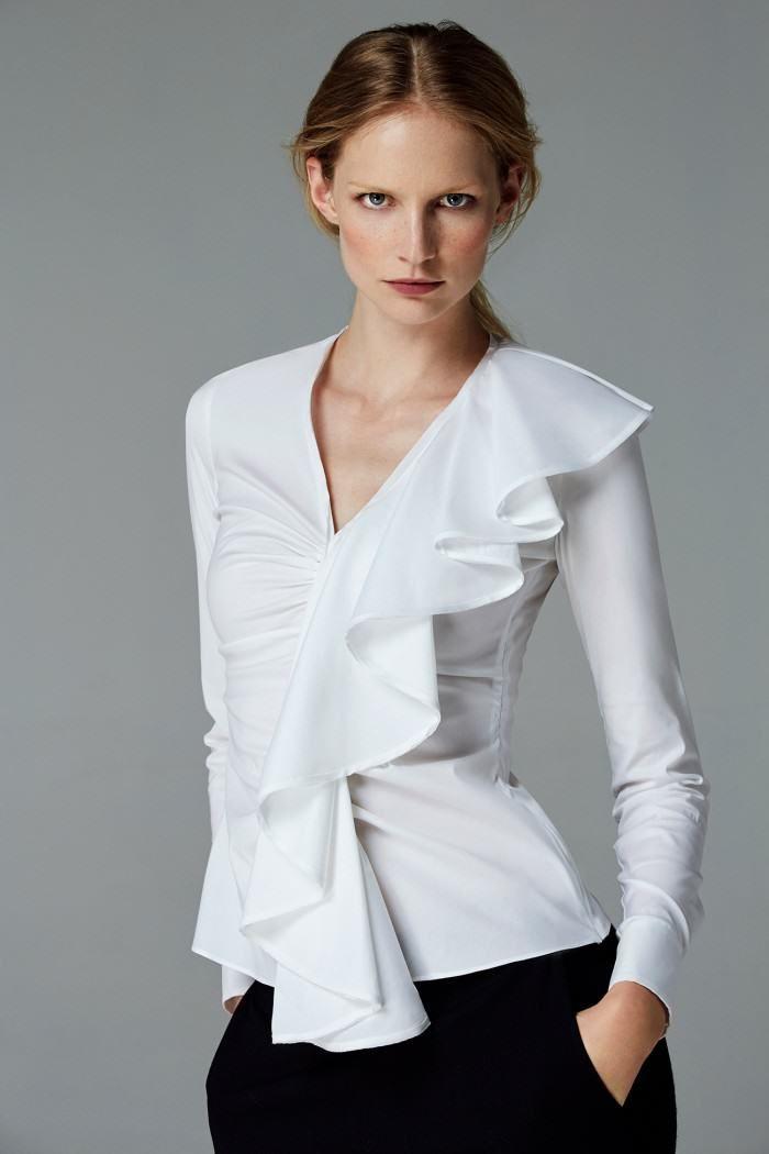 Ch carolina herrera woman white shirt collection fall for Carolina herrera white shirt collection