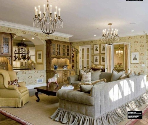 Country french sectional sofa family room ideas pinterest french sectional sofas and design - French country sectional sofas ...