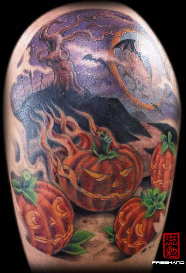 jack o lantern tattoo tattoos pinterest lantern tattoo tattoo and jack tattoo. Black Bedroom Furniture Sets. Home Design Ideas