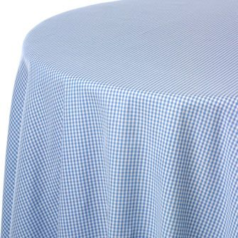 Blue/White Gingham Check Print Table Linen Rentals