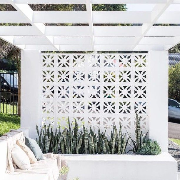 Inspirations Paint Gold Coast On Instagram Are You Inspired To Bring Breeze Block Into Your Place Or Is Breeze Block Wall Concrete Backyard Backyard Decor
