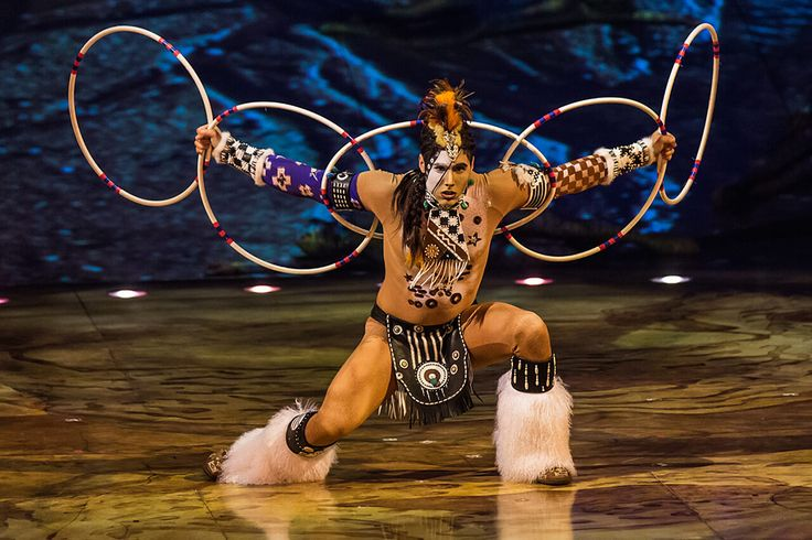 The Hoops act from TOTEM performed by the Amerindian Dancer