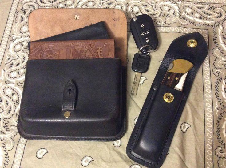 Belt leather bag, belt bag, bikers bag, hipster bag, black holster bag, black pouch, handmade bag, festival belt bag, mens belt bag