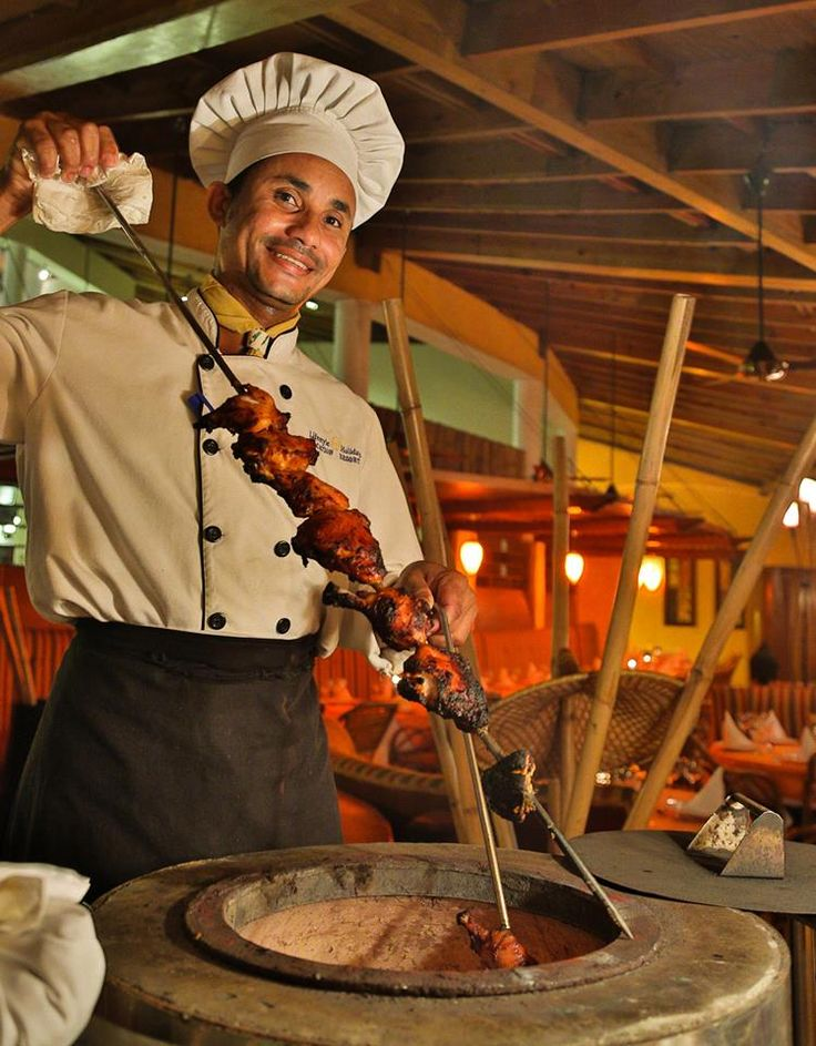 Authentic Brazilian Churrascaria, a Brazilian steakhouse where Churrasco is the cooking style.  Churrasco is roughly translated from Portuguese for 'barbecue'.  The name of the restaurant, Rodizio, is from the type of service where Passadores (meat waiters) come to your table with knives and a skewer, on which are speared beef, pork, filet mignon, chicken, sausage or pineapple.  An expansive salad bar of fresh vegetables, salads, beans and rice begins your dining experience.