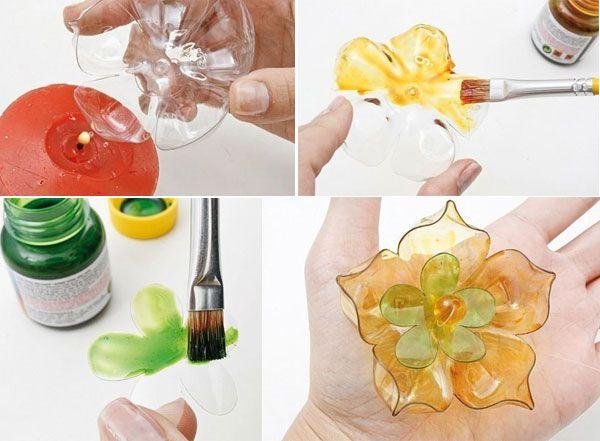 Kerajinan Bunga Dari Botol Plastik
