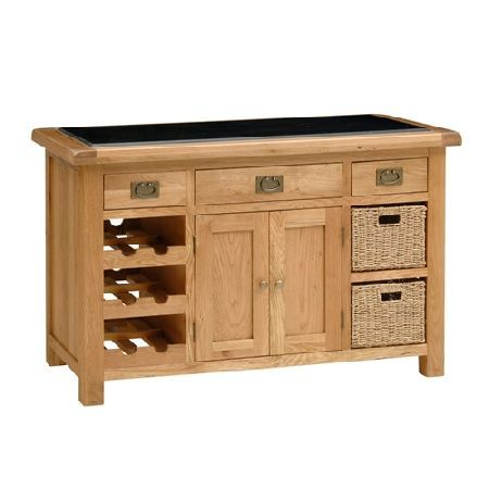 Salisbury Oak Kitchen Island 596201 Quality Wooden Furniture At Great Low Prices From PineSolutionsco