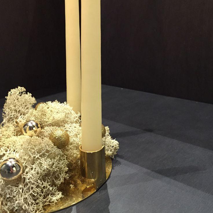 AYTM Annulus candleholder in brass