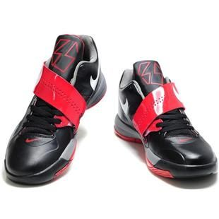 Kevin Durant Shoes Nike Zoom KD 4 IV Black/Gray/Red