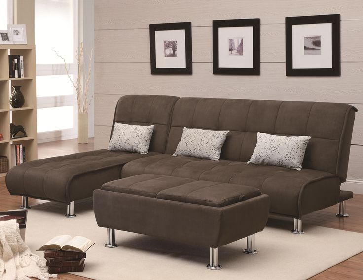 Coaster Transitional Styled Sofa Sleeper Futon Bed - Chaise 300277 QLX2 - Coaster Transitional Styled Sofa Sleeper Futon Bed -  Chaise 300277Completely casual and absurdly comfortable, this modern styled sofa sleeper will introduce your home to the importance of casual comfort and easy convenience. Designed with plush padded cushions that feature a pillow-top look, this transitional sleeper sofa casts an inviting aura that is complete with relaxed seam details and silver-colored cylinder…