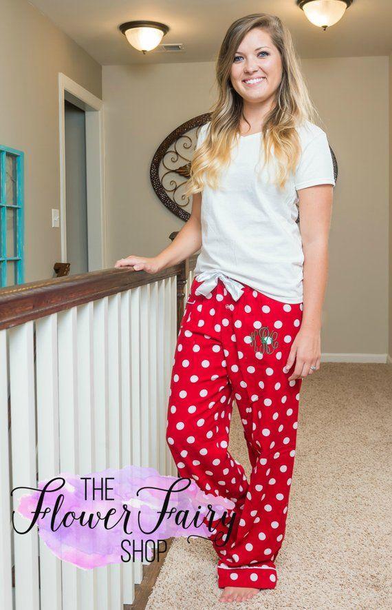 40ba5b160c Pajama Pants Flannel Monogrammed