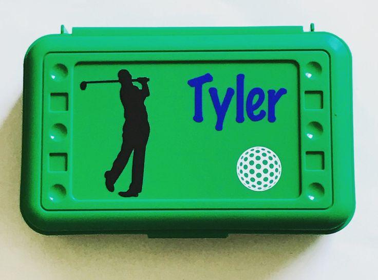 Personalized Pencil Box, Golf, Golf Pencil Box, Back to School, School Supplies, Pencil Case, Pencil Box, Golfer, Golfer Pencil Box, by MamaBforMe on Etsy https://www.etsy.com/listing/530966486/personalized-pencil-box-golf-golf-pencil