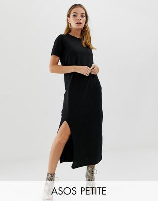2508df228239 DESIGN Petite ultimate t-shirt maxi dress in 2019 | Moto boot outfit ...