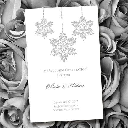 Printable Wedding Ceremony Program Template by WeddingTemplates, $8.00