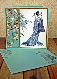 Gorgeous card by Teresa from The Tamarisk: Darkroom Door Kimono Vol 2 stamps