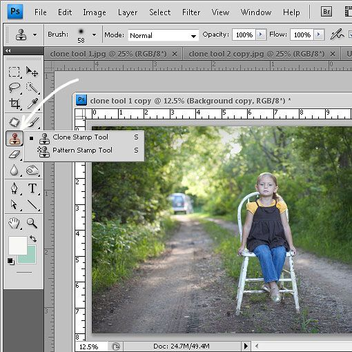 how to remove unwanted background clutter using photoshop.