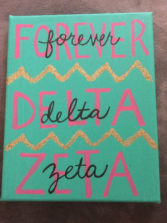 Delta Zeta Canvas by DeltaZeeDesigns on Etsy                              …