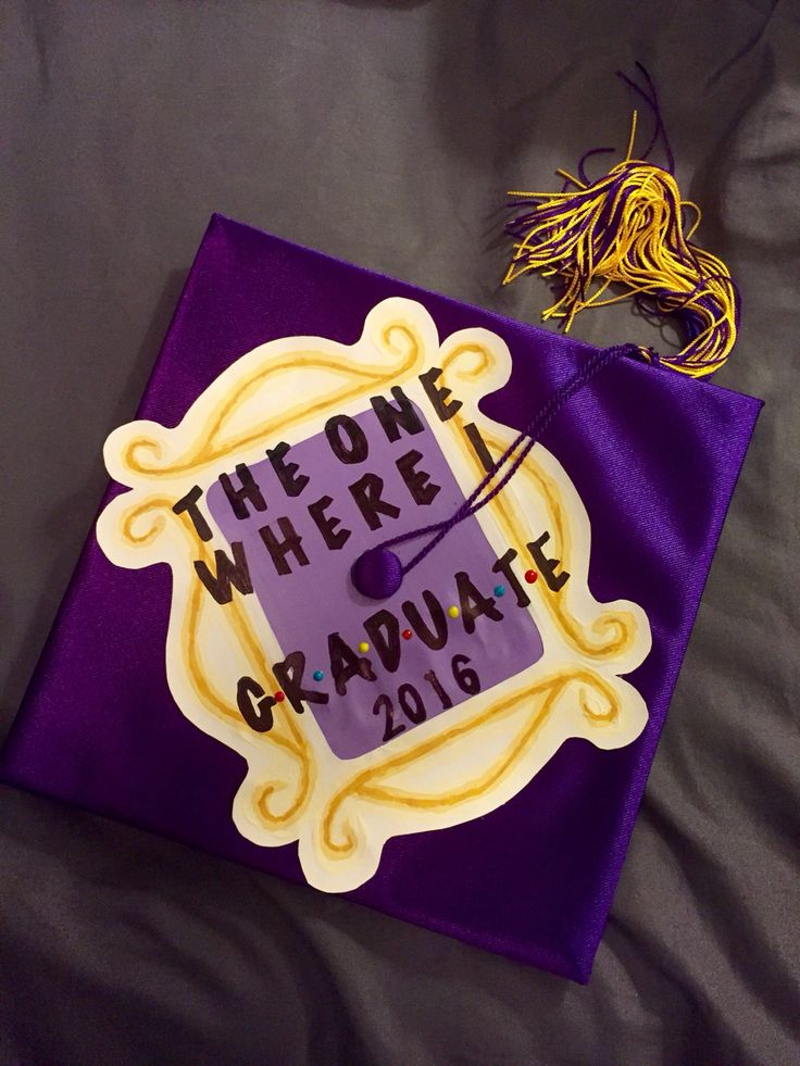 FRIENDS inspired graduation cap my boyfriend made!