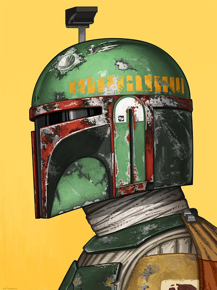 Cool Art: Boba Fett & AT-AT Driver by Mike Mitchell. See them here
