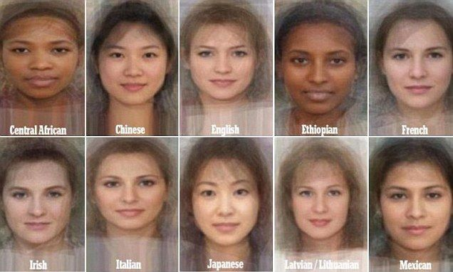 The average woman revealed: Study blends thousands to faces to find what average would look like.