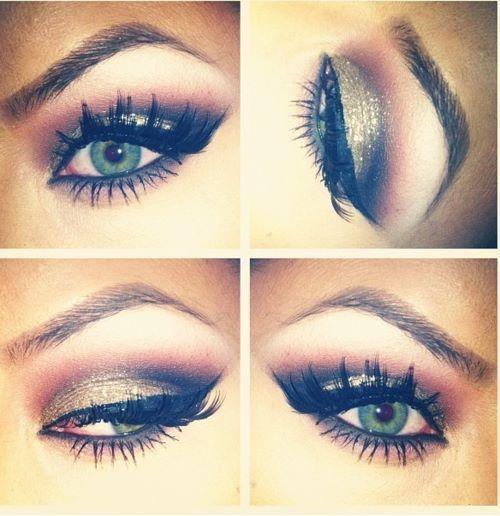 eye makeup, makeup, mascara, smokey eye: Colors Combos, Cat Eye, Eye Makeup, Dramatic Eye, Makeup Ideas, Eyeshadows, Eyemakeup, Smokey Eye, Green Eye
