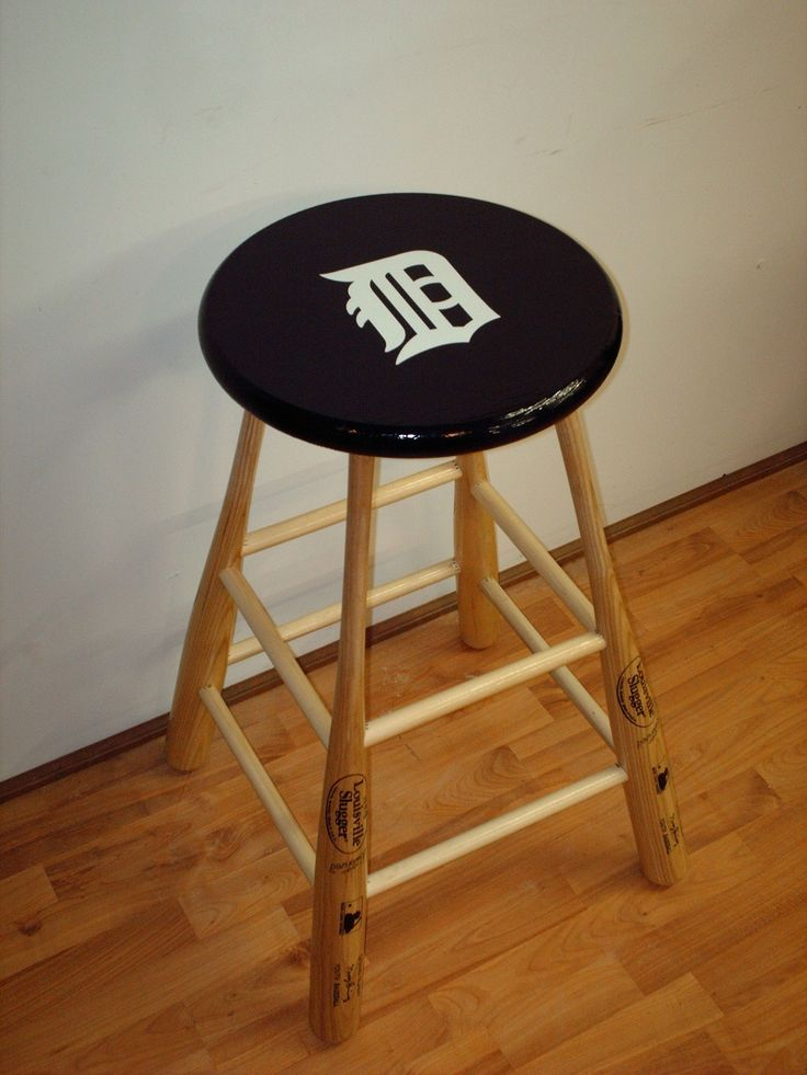 Baseball Bat Bar Stool Yankees Idea