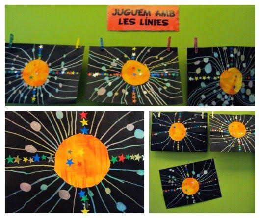 Soleil, étoiles et planètes- Graphisme- Lignes