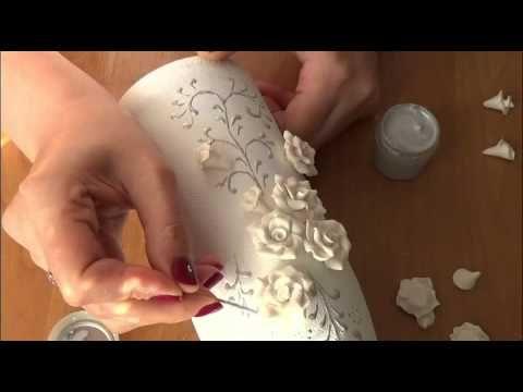 DIY Украшение свадебного шампанского часть 2. Decoration Wedding champagne part 2 - YouTube