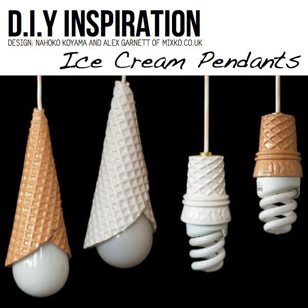 These DIY ice cream pendants are perfect to add some soft lighting to a sweets inspired nursery! #pinparty