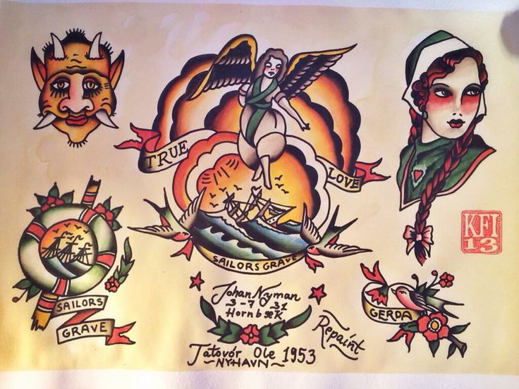 #Tattooflash #repaint #sailawaytattoo #traditional #flash #spitshade