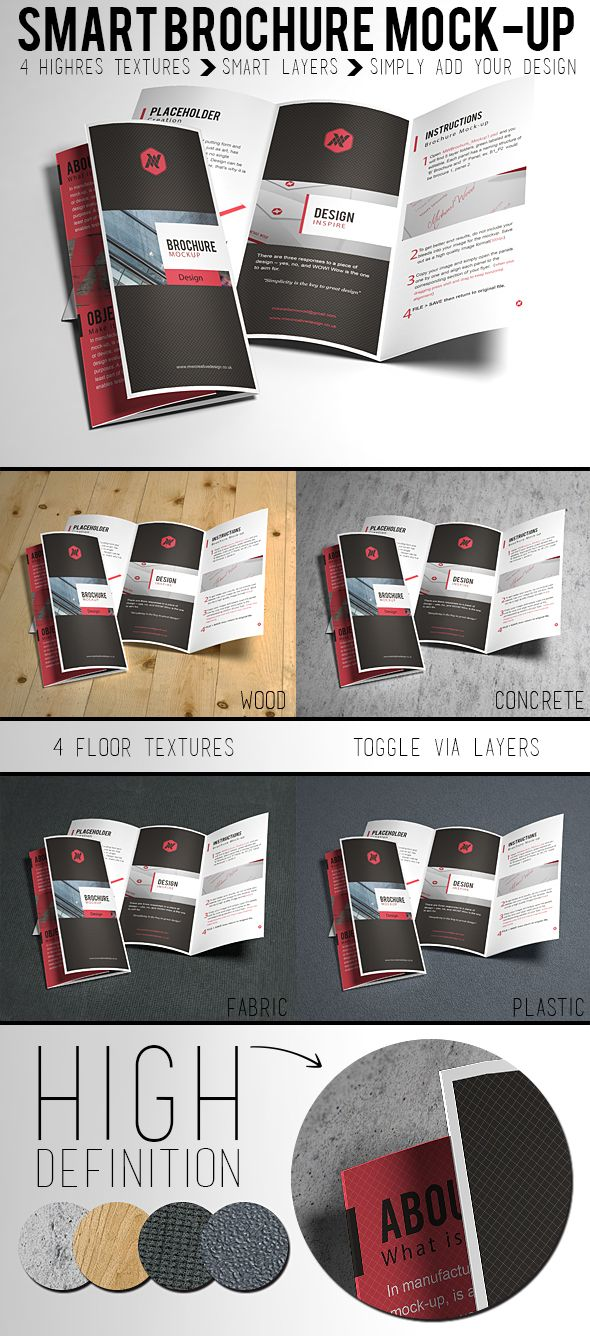 A very high quality free brochure mockup template to showcase your designs. All you have to do is replace designs inside smart layers and your're good to g - posted under Freebies tagged with: Display, Free, Presentation, Resource, Showcase, Template by Fribly Editorial