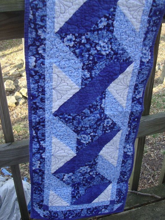 pinterest quilted table runners | Blue Ribbon Twist quilted Table Runner by ... | Table Runners and m...