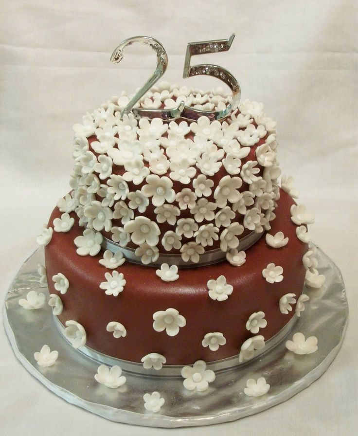 25th Wedding Anniversary Cakes: 26 Best Silver Anniversary... 25 Years! Images On