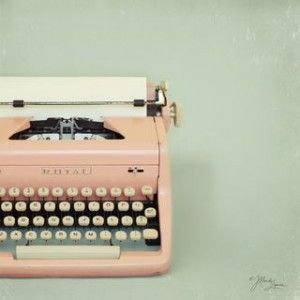 I love old type writers and this one is pink ...love it!