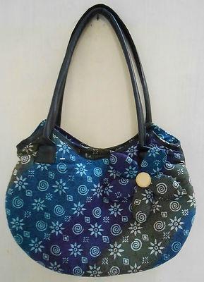 """Batik Indonesia women bag  Dimension : D: 8cm(3.14"""") L: 36.8cm(14.5"""") H: 22.8cm(9"""") strap drop : 27.9 cm(11"""")  material : cotton and polyester"""