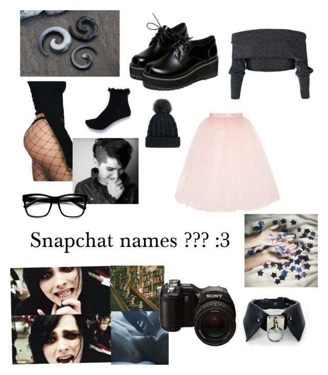 """Snapchat names :3"" by aoife1570 ❤ liked on Polyvore featuring Ballet Beautiful, Cats Got the Cream, River Island, ZeroUV and Sony"